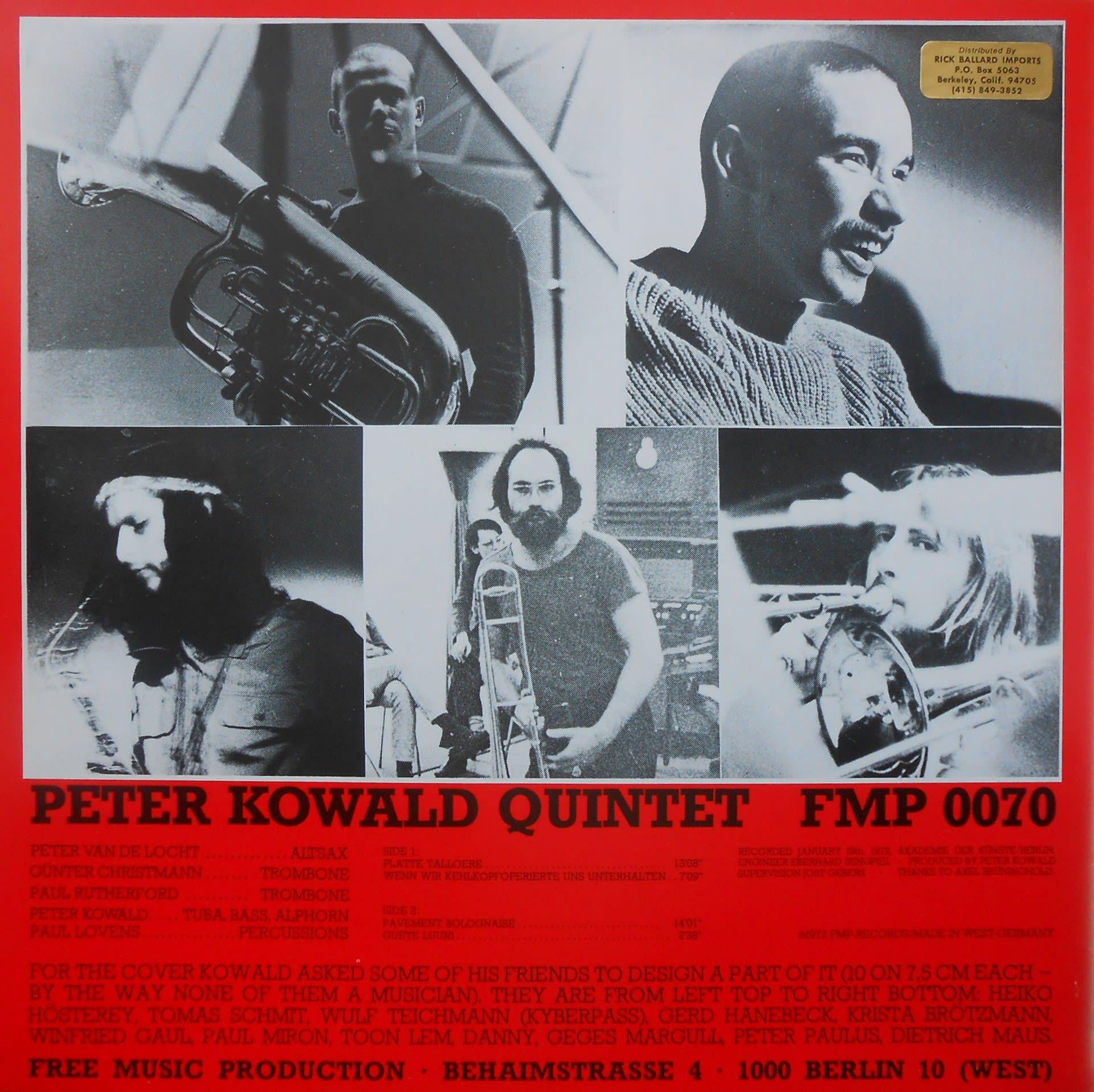 Peter Kowald - Duos America