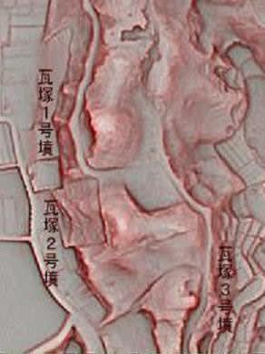 瓦塚古墳群赤色地図