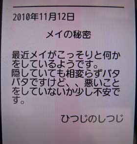 2010/11/14のエントリー「メイの秘密」