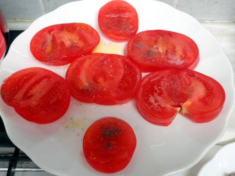 05月21日 トマトにオリーブオイル