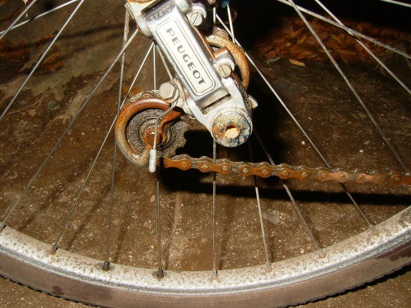 自転車の 自転車 汚れ 落とす : 汚れでなく、サビに付いた汚れ ...