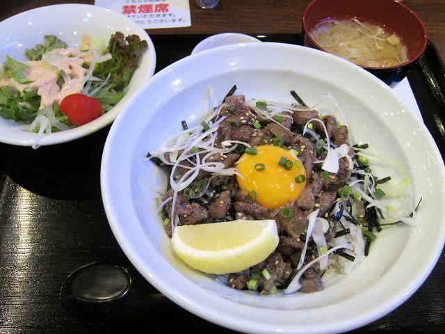 山形牛塩ダレ炙りユッケ丼