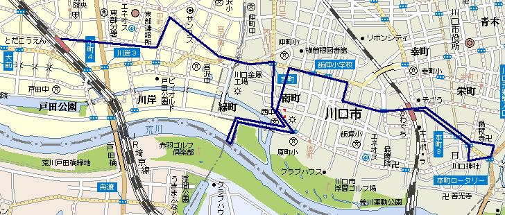 川口〜戸田を歩く 2007/4/30
