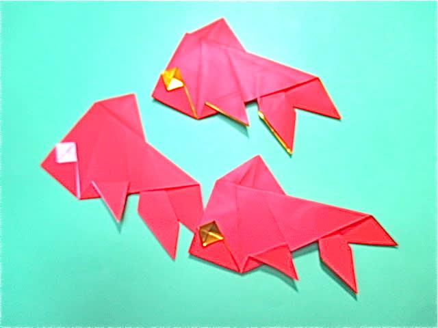 ハート 折り紙 折り紙金魚の折り方 : divulgando.net