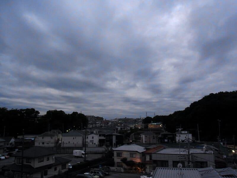 11月02日 厚い雲