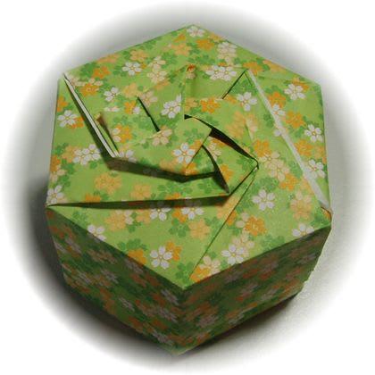 ハート 折り紙 折り紙箱六角形折り方 : blog.goo.ne.jp
