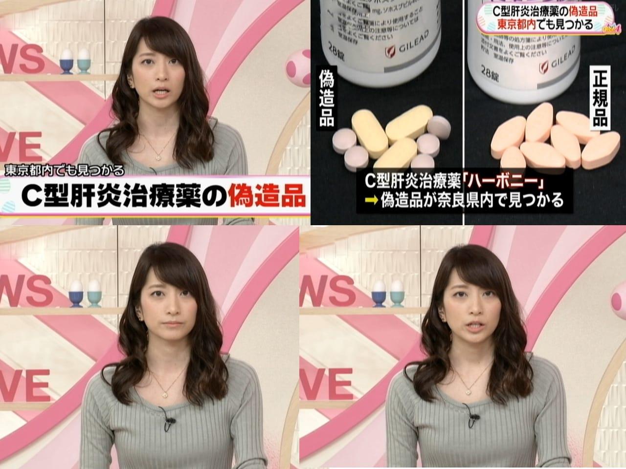 『テレビ』 ジャンルのランキング コメント 笹崎 里菜 C型肝炎治療薬の偽造品東京でも