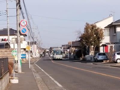 下館ニュータウンを走る路線バス(茨城県筑西市)