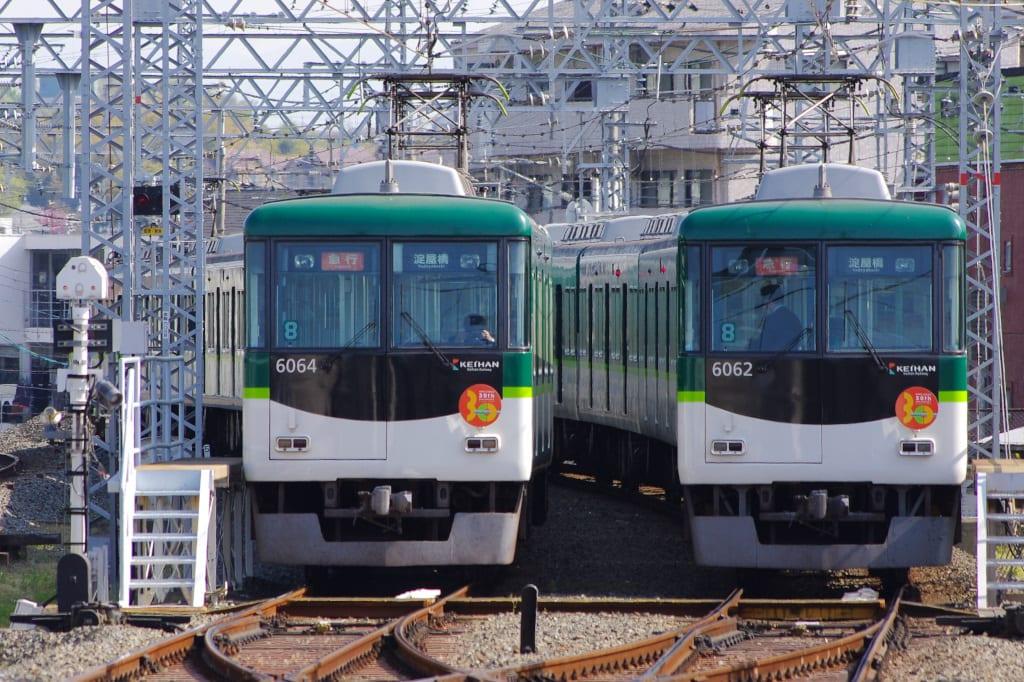 京阪6000系第12編成と第14編成