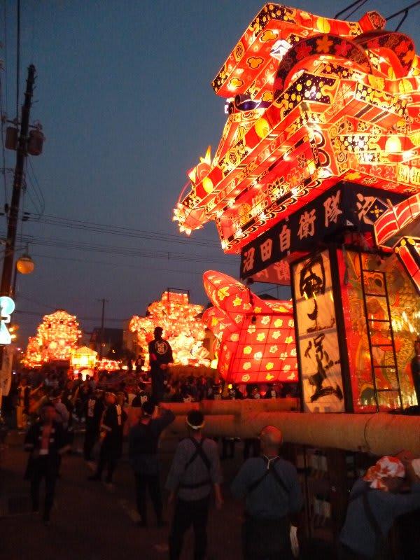 沼田町 夜高あんどん祭り。。。。。 - ラッコマンの喫茶室