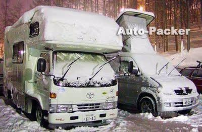 冬の車中泊