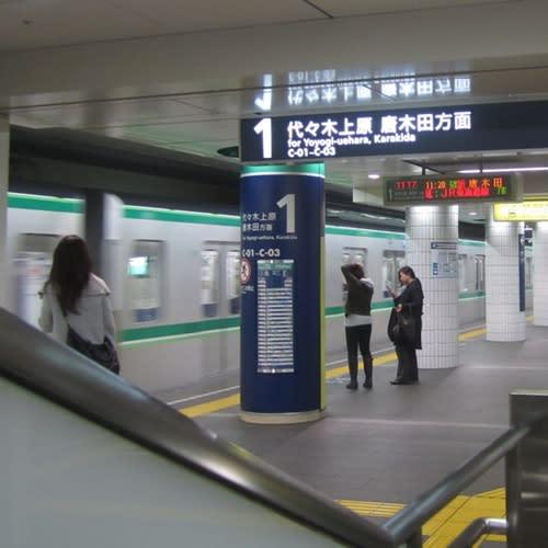 東京メトロ16000系、試運転(10/11/01@表参道)