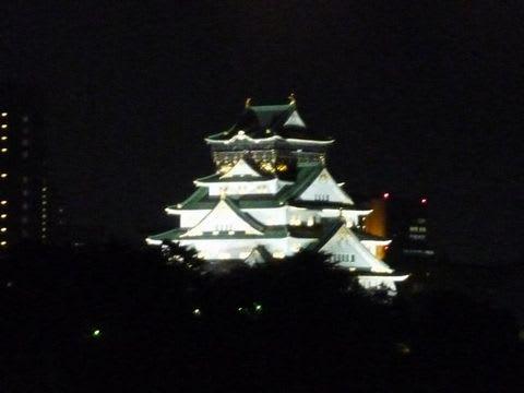 ホテルニューオータニからの大阪城