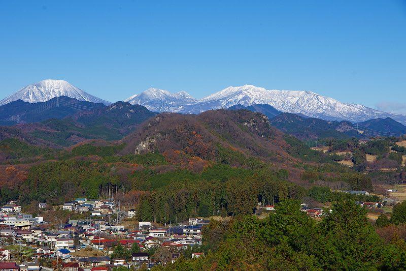 鹿沼市 富士山公園から 26.12.19 - 栃木の木々