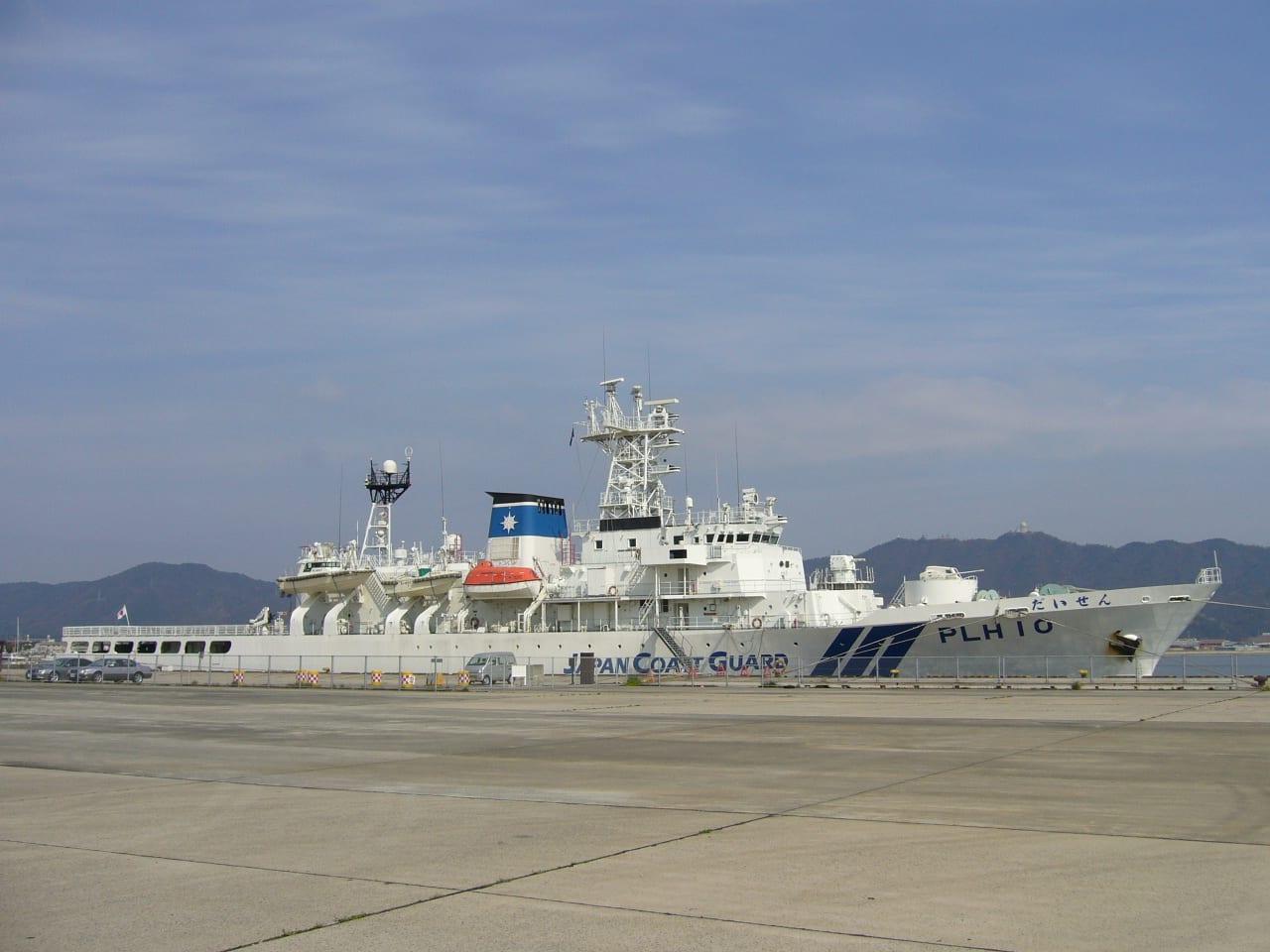 やはり第八管区の巡視船と言えば「だいせん」 公称船型 ヘリコプター1機搭... ヘリ搭載型巡視船