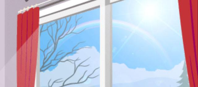 お正月も2時の虹