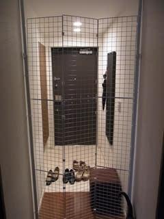 ネコ脱走防止柵を自作しました♪ - ricoのつれづれblog