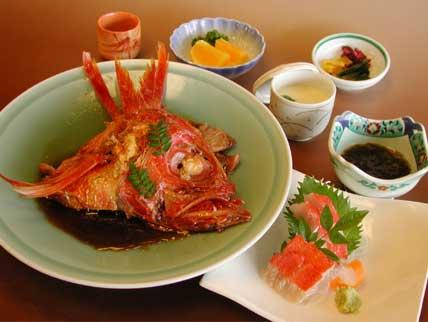 金目鯛のあら煮定食