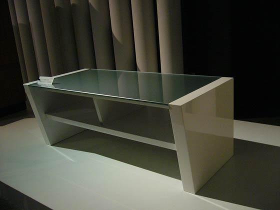 UV塗装センターテーブル(ホワイト)