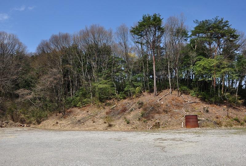 ボウジ1号墳の有る丘陵