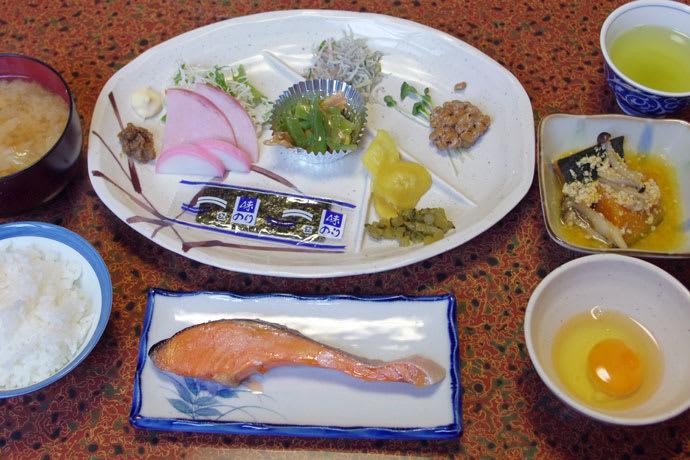 唐沢鉱泉の朝食