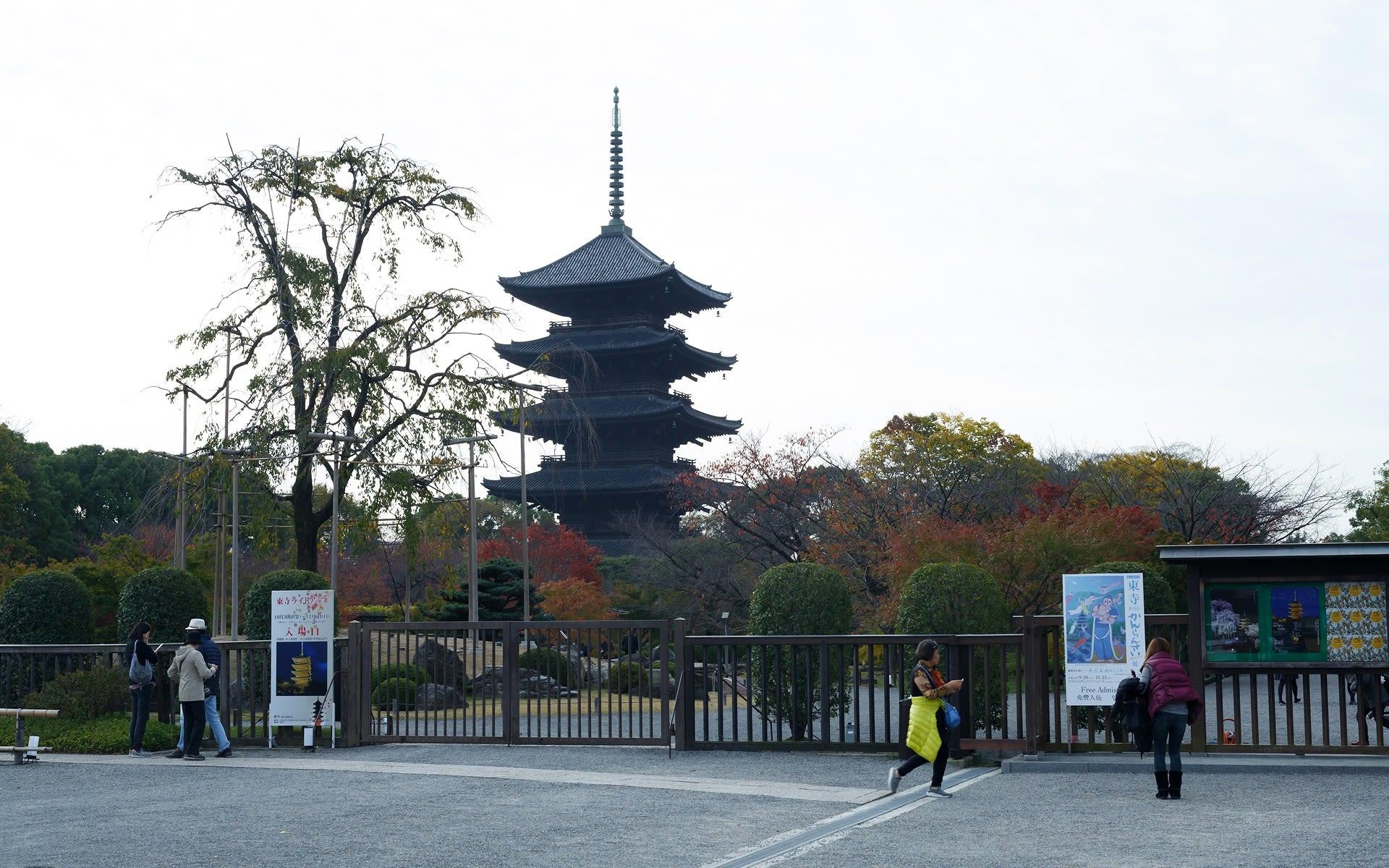 15年の紅葉の京都 東寺の壁紙その2 計44枚 壁紙 日々駄文