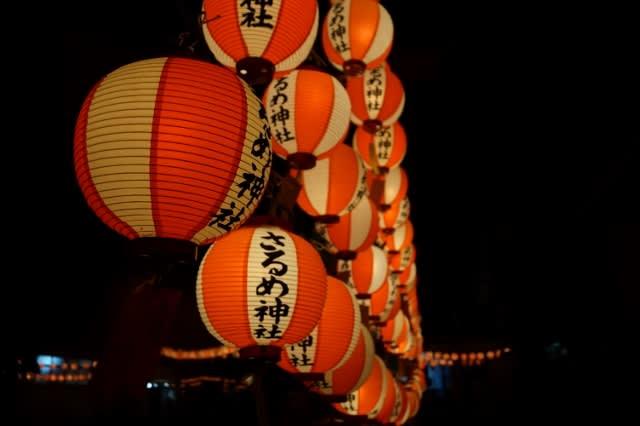 佐瑠女(さるめ)神社の宵祭に行ってきました〜(^^)