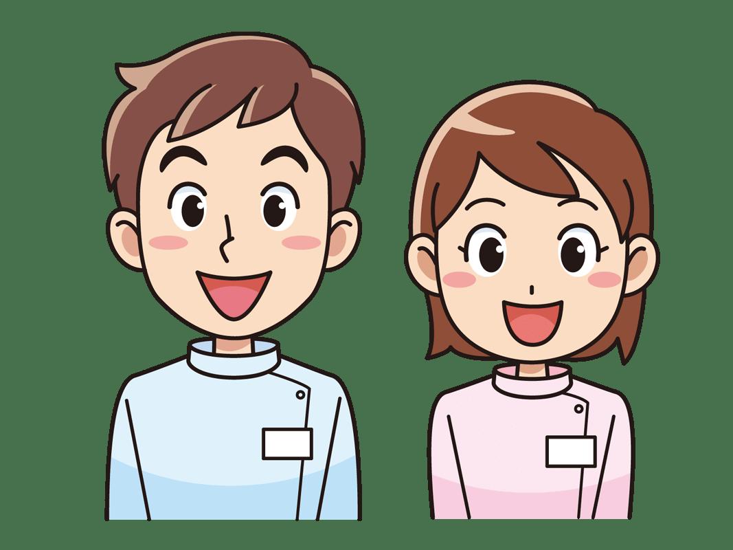 介護士の男女(無料イラスト素材) - イラスト素材図鑑