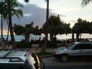ハワイ3日目夕方景色