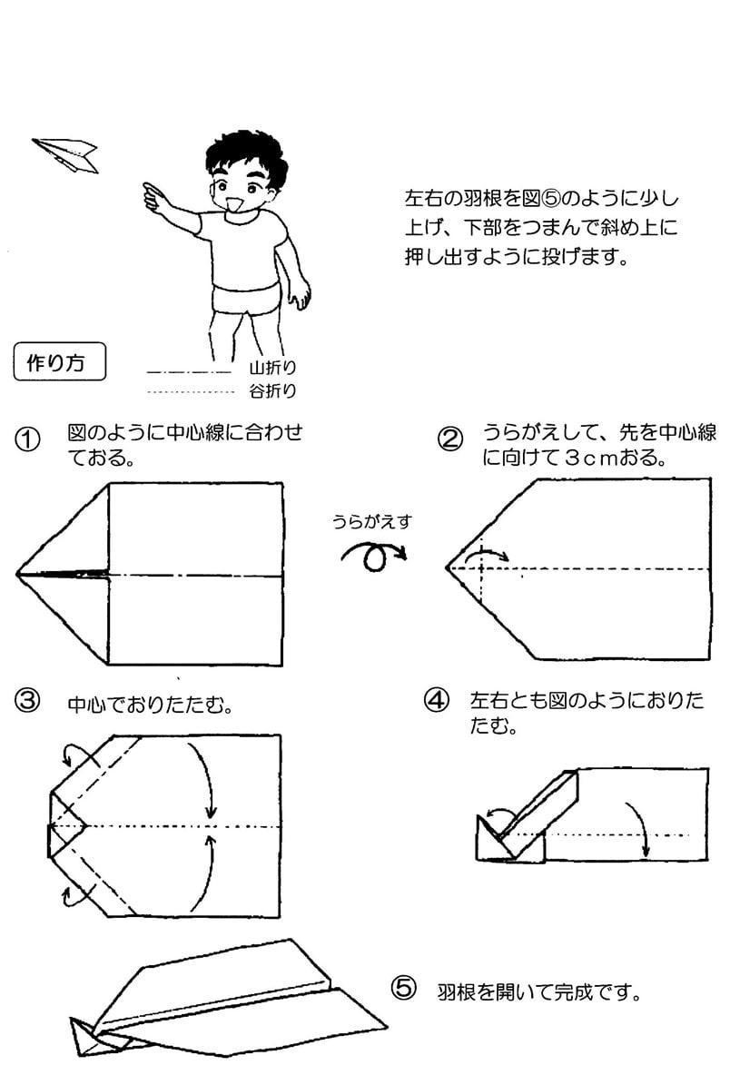 すべての折り紙 折り紙ドラえもんの折り方 : 紙飛行機(5種類)の折り方 ...