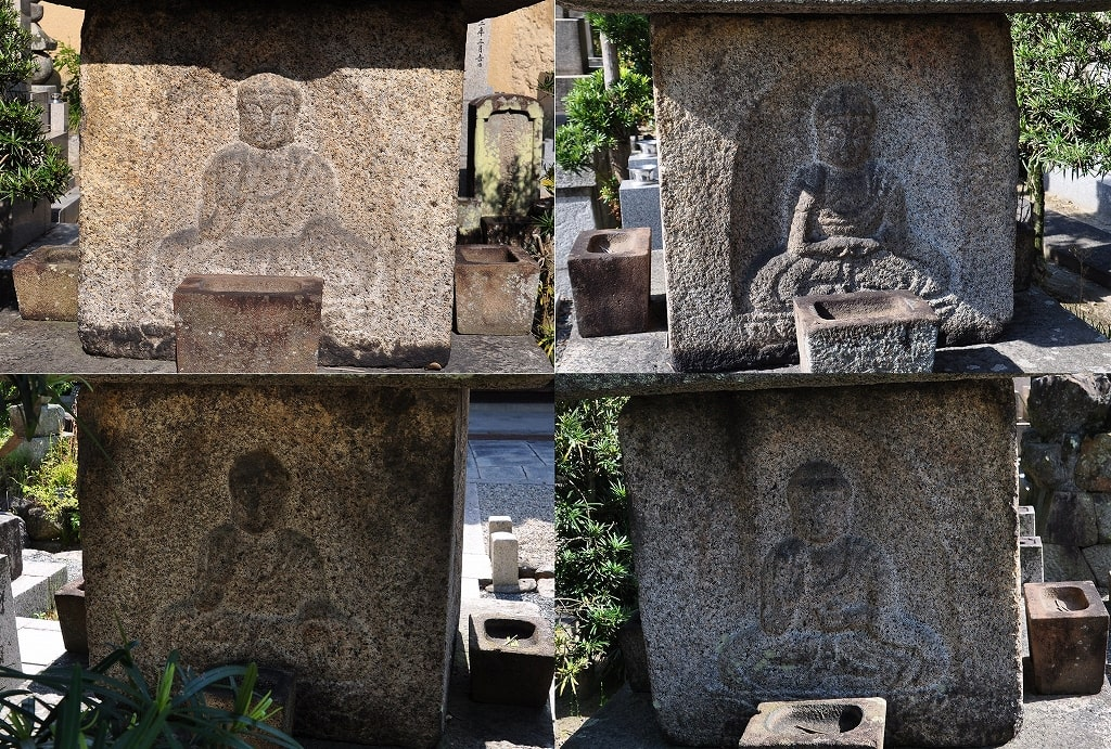 実相寺の十三重石塔四仏