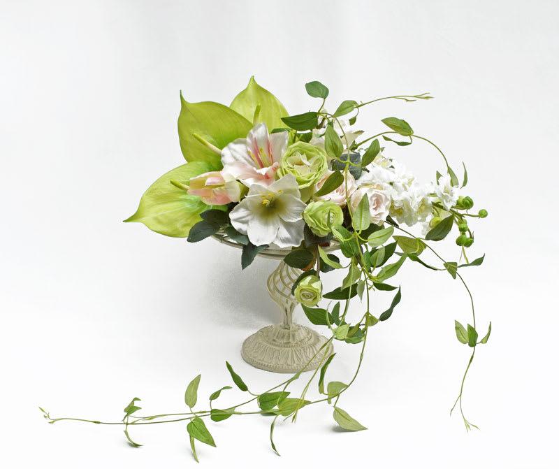 造花白グリーンアレンジメント