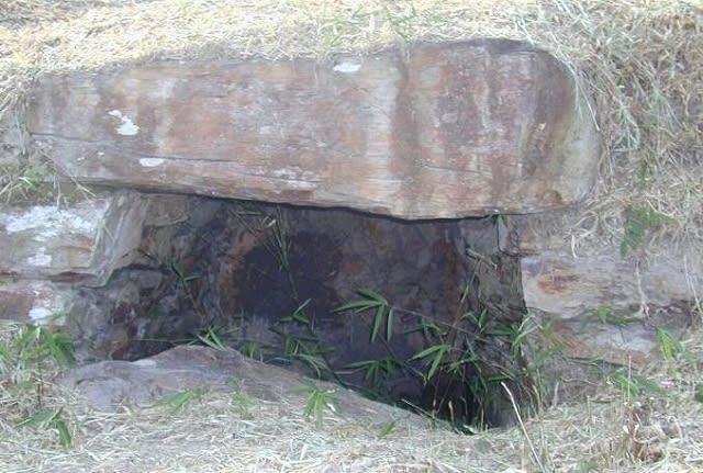 開口していた頃の石室