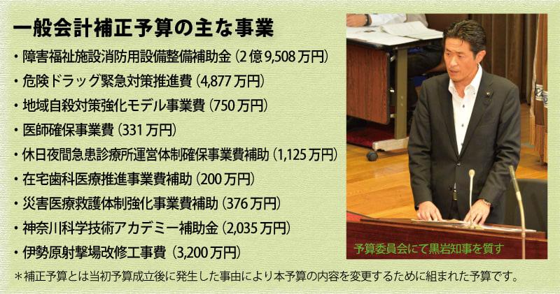 近藤だいすけ県議会ニュースvol.21 一般会計補正予算の主な事業(H.26)