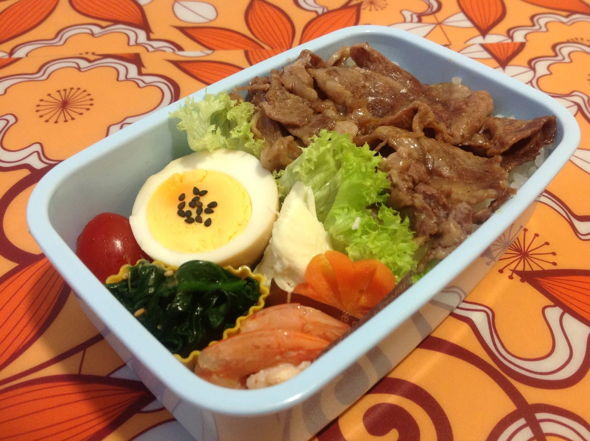 本日のお弁当\u2026焼肉丼弁当