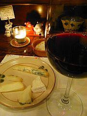 チーズ盛り&赤ワイン