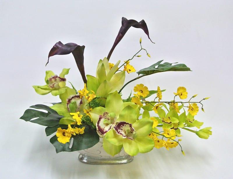 カラー シンビジウム 造花