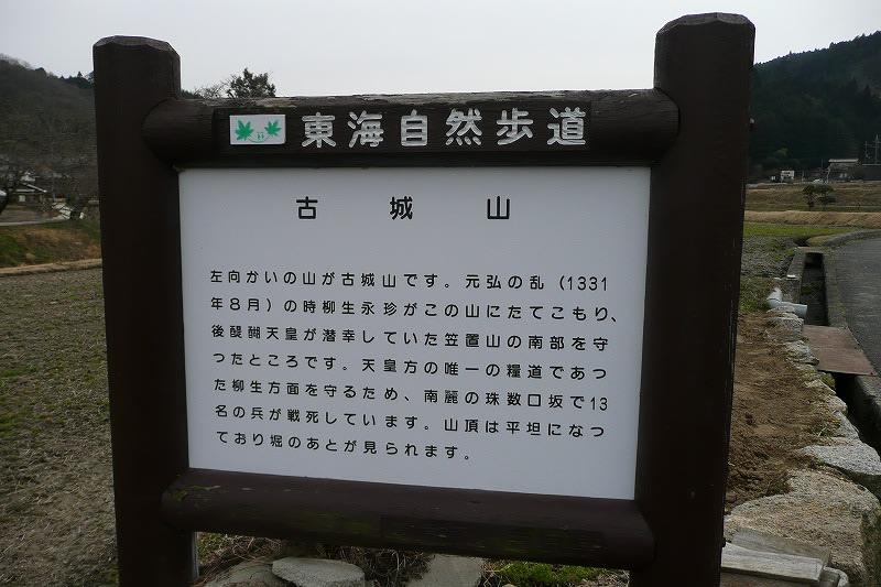 古城山説明板