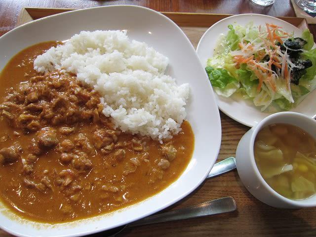 カレーランチ(カシューナッツ入りココナッツチキンカレー)