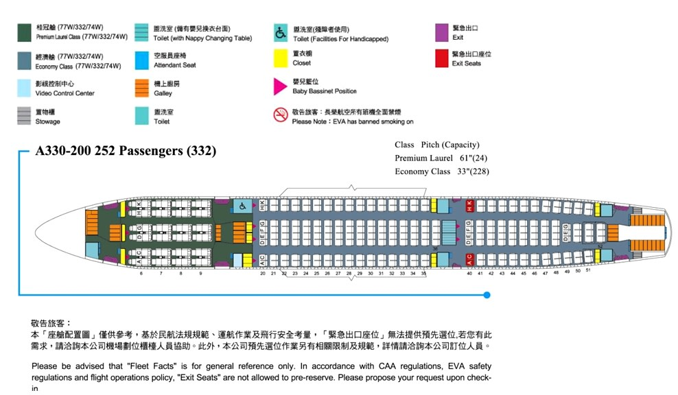 Qantas Airbus Industrie A330 Seating Plan