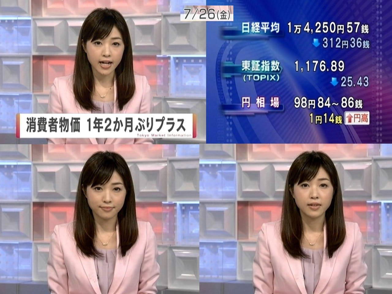 『テレビ』 ジャンルのランキング コメント 竹内 優美 物価上昇、株下落
