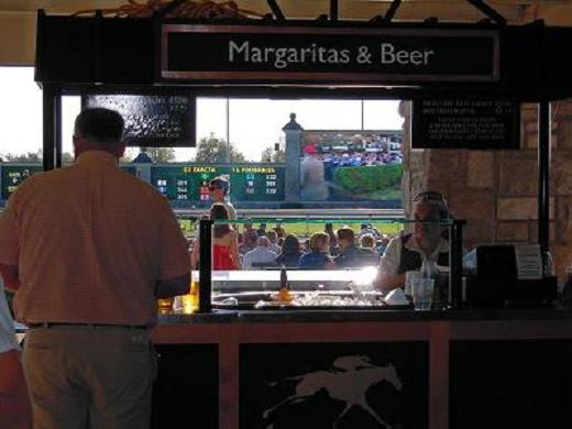 Bar in Keeneland racing truck