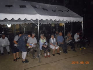 8/8 学童さんのキャンプファイヤーにおじゃましました