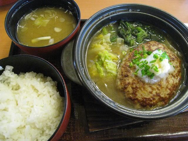 ぽかぽか生姜と野菜の鍋ハンバーグ和風セット