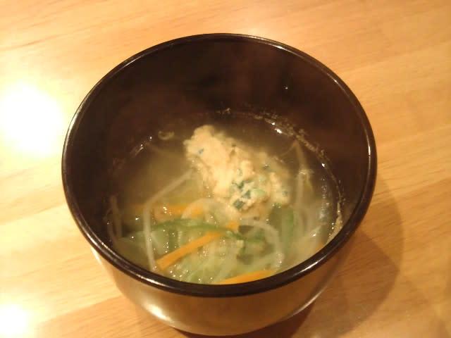 【温かい鶏団子スープ】