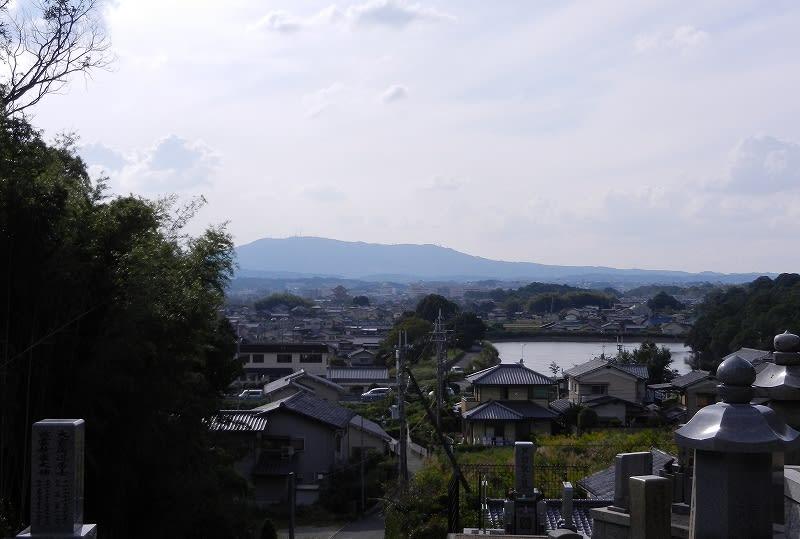 不退寺裏山からの眺望