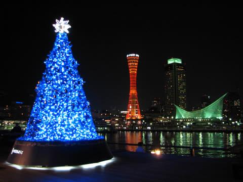 神戸ハーバーランド モザイクのクリスマスツリー
