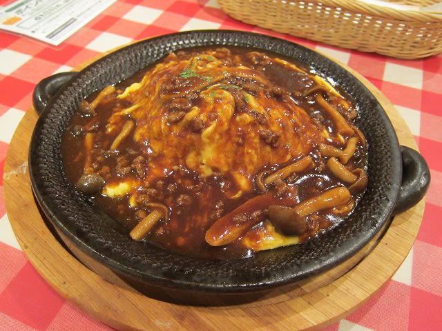 オムライス(牛肉ときのこのデミグラスソース)