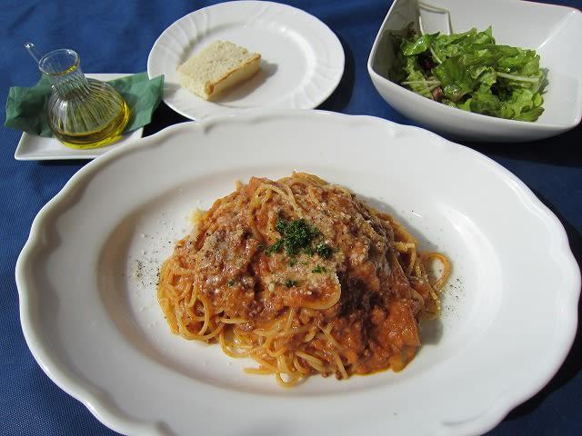 パスタランチ(千葉県産色んなお肉とポルチーニ茸のボロネーゼ)