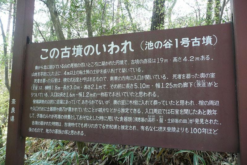 池の谷1号墳説明板